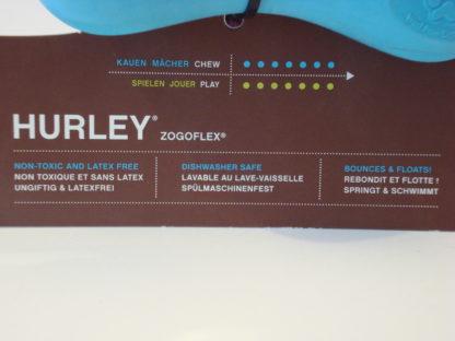 Hurley S blauw verpakking tekst