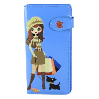 Portemonnee Shagwear Shopping Girl blauw