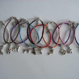 armbandje met bedeltje diverse kleuren