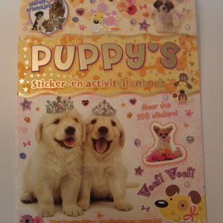 Puppies sticker en activiteiten boek voorkant