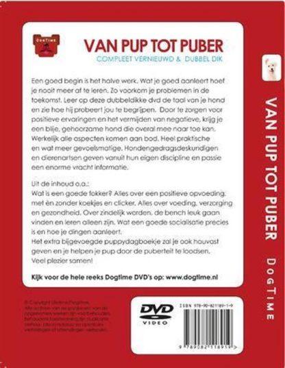 Dvd van pup tot puber achterkant