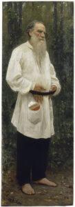 Tolstoj op blote voeten, door Ilja Repin, 1901
